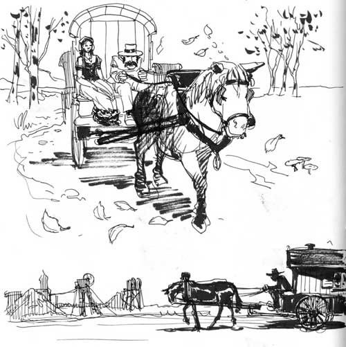 Gitan - Voyageur dessin ...